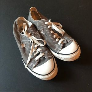 Converse All Star Canvas Sneakers Gray Size 7